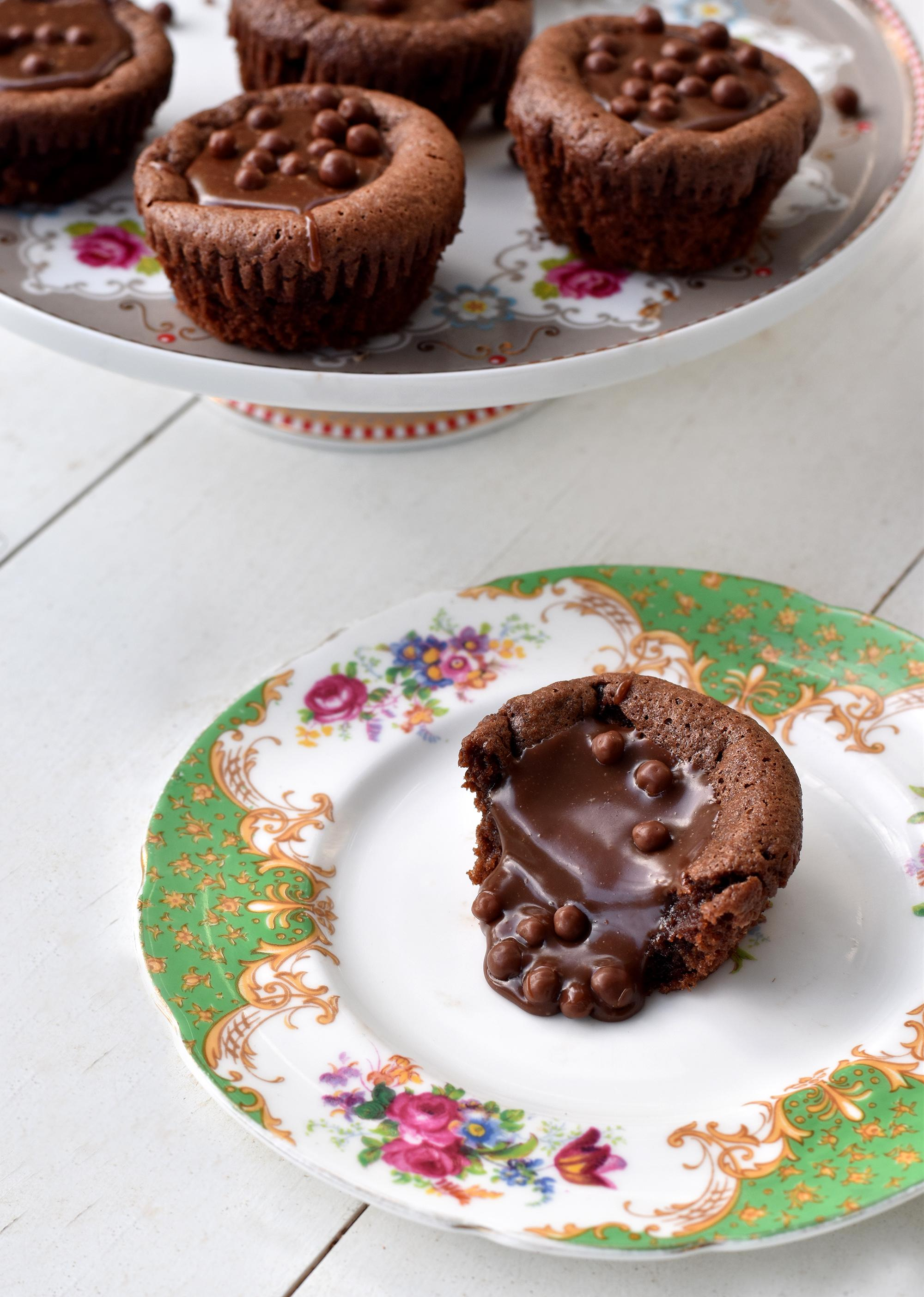 עוגות נוטלה מ-3 מצרכים