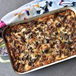בניצה עם גבינות ופטריות