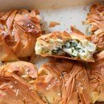 קמטוטי פילו  במילוי גבינות ותרד