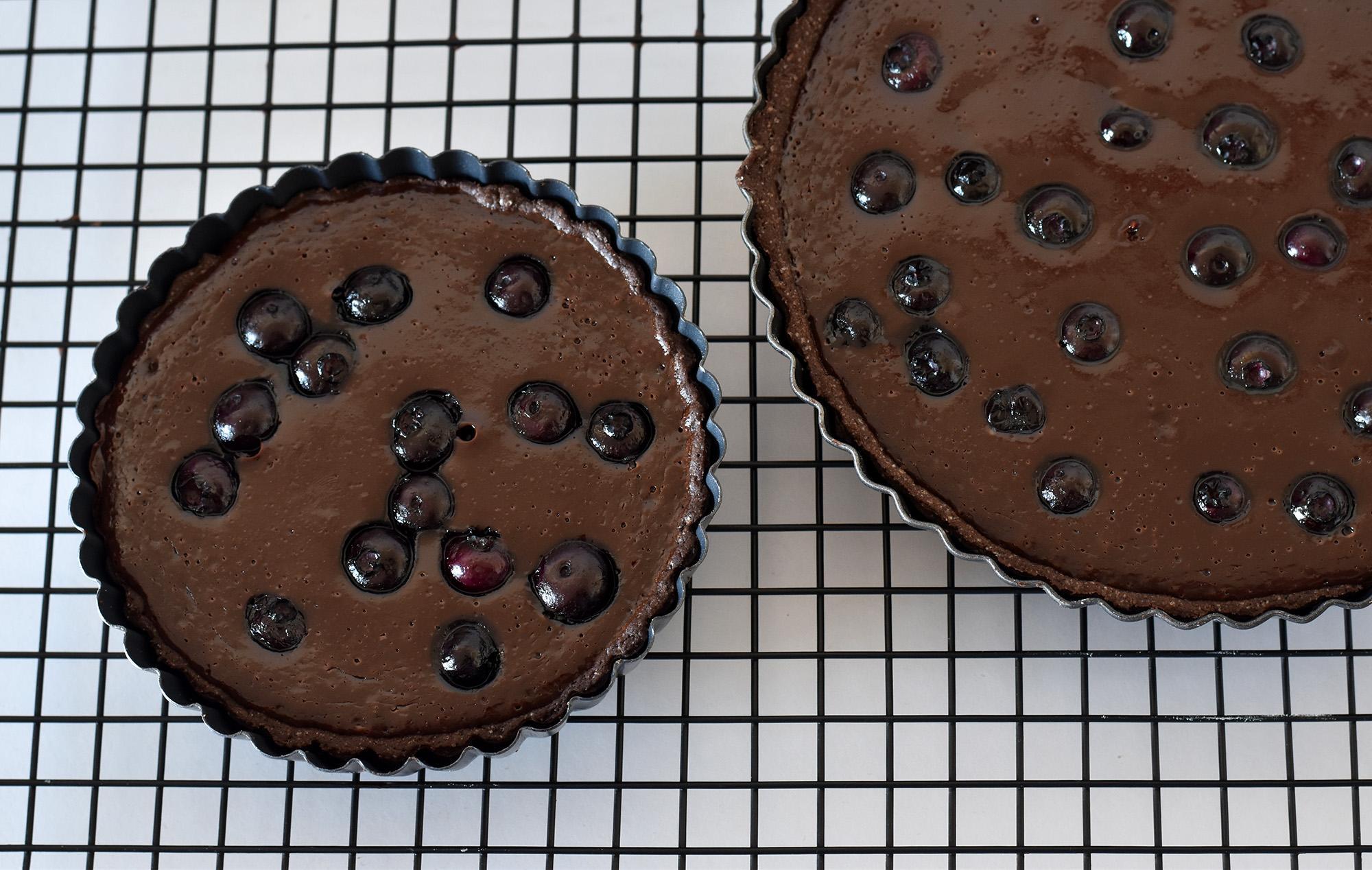 טארט שוקולד וליקר דובדבנים