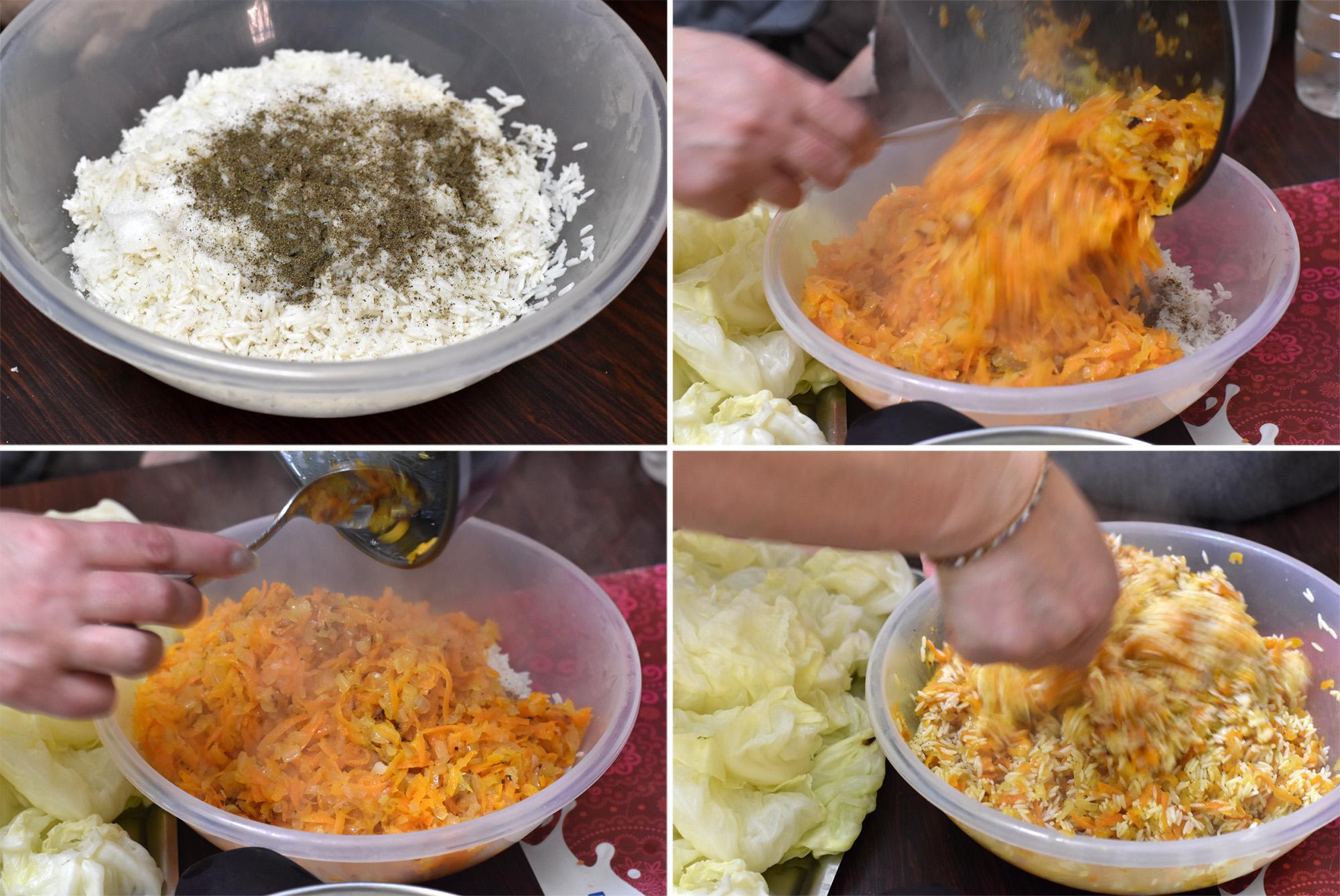 כרוב ממולא באורז וגזר
