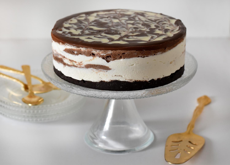 עוגת גבינה ושוקולד קרה