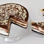 עוגת גבינה ושוקולד משויישת (ללא אפייה)