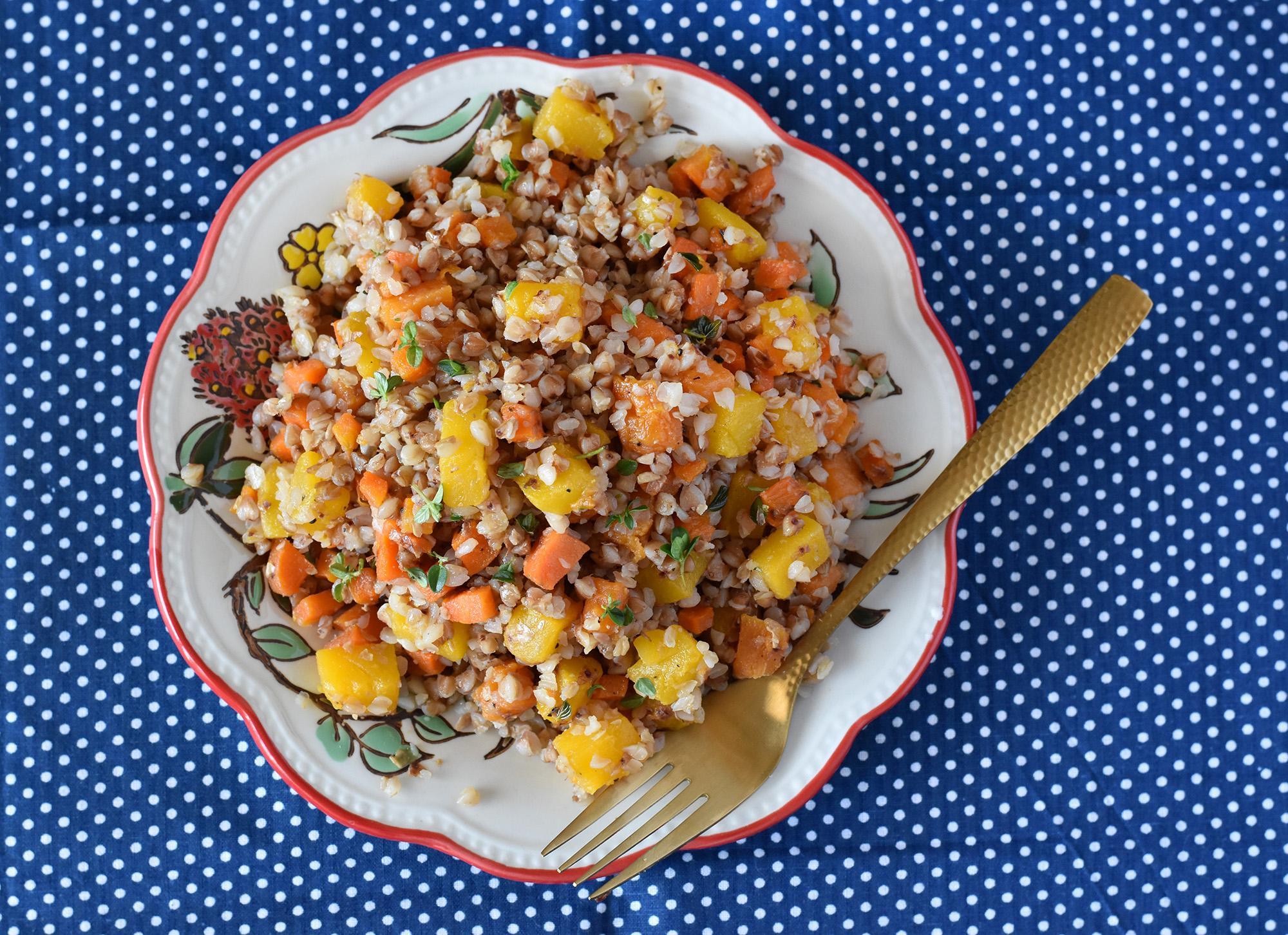 כוסמת עם ירקות כתומים