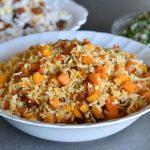 אורז כתום עם בטטה, דלורית וגזר
