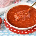 מרק עגבניות עם אורז רך רך