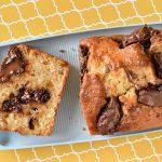 עוגת בננות וקוקוס עם חמאת בוטנים, שוקולד צ'יפס ונוטלה