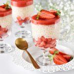 טפיוקה עם תותים - מלא תותים