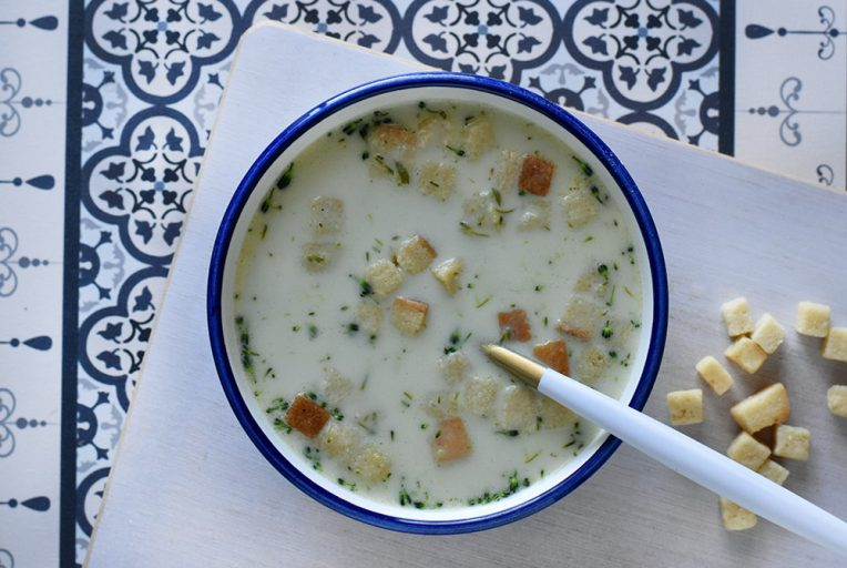 מרק ברוקולי קרמי