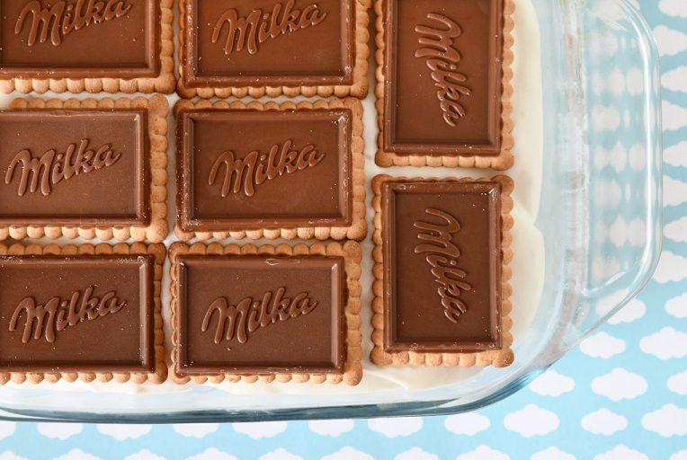 עוגת ביסקוויטים ושוקולד