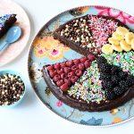 פיצת בראוניז שוקולד ללא גלוטן