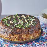 עוגת אורז עם פרגיות, אורז, ערמונים ותפוחי אדמה. צילום: אפיק גבאי