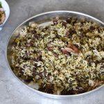 בחש - אורז ירוק עם כבדי עוף ובשר