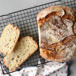 לחם ארטיזן ללא מיקסר