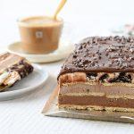 עוגת ביסקוויטים גלידה עם שוקולד