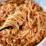 ספגטי ברוטב בולונז עוף