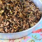 מג'דרה מאורז מלא עם עדשים שחורות