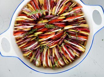 רטטוי - מניפת ירקות בתנור