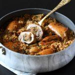 פרגיות במילוי אורז עם שקדים וצימוקים