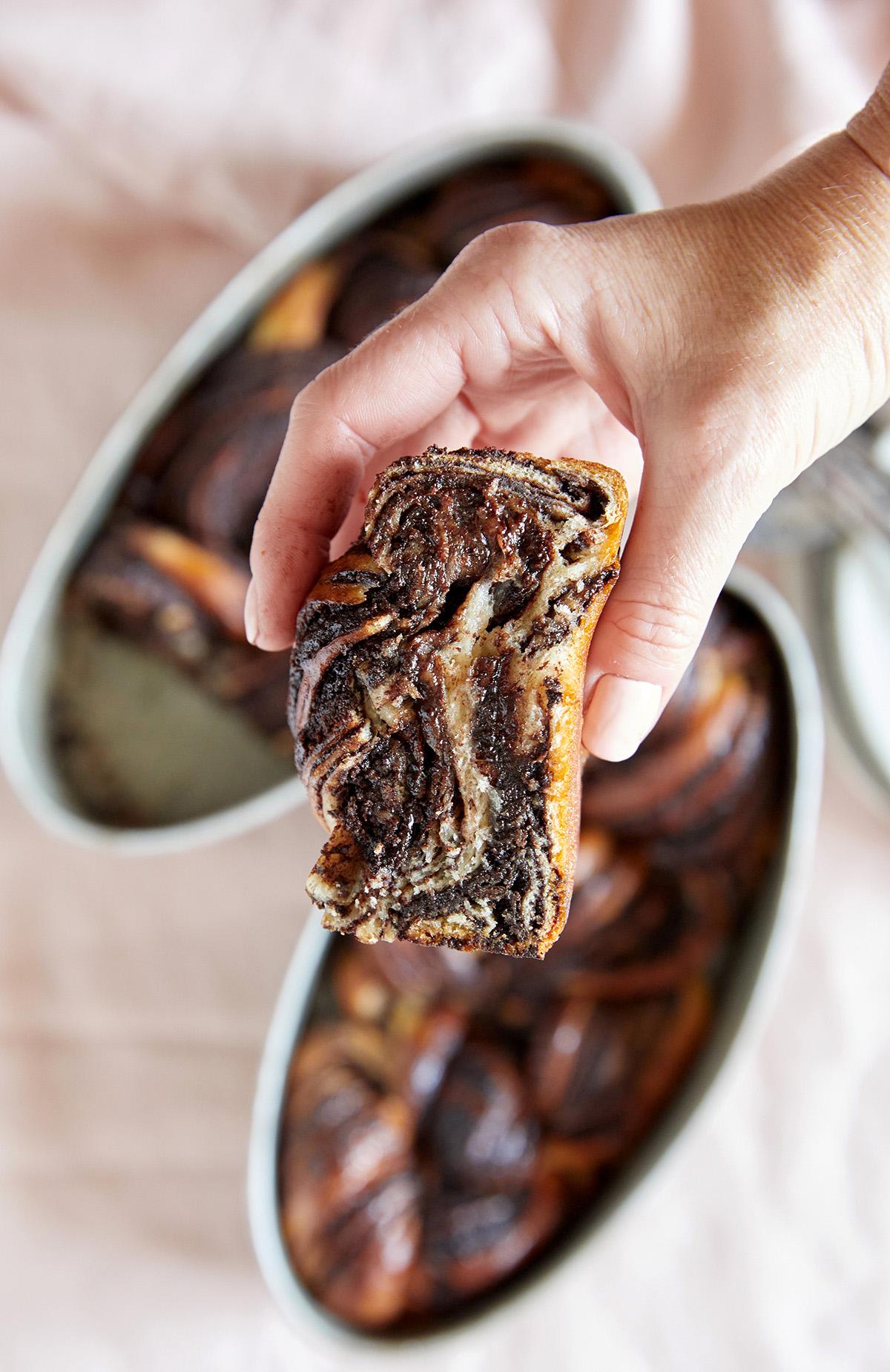 עוגת שמרים שוקולד. צילום: טל סיון צפורין